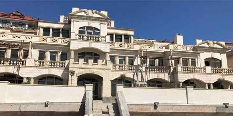 Finishing of the hotel facade at Cape Sarych, Sevastopol, Crimea