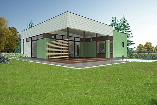 ECOLOGICAL WOODEN HOUSE BEZANA 88