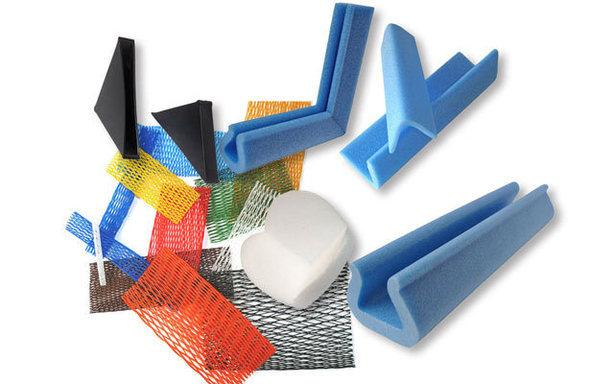Reti tubolari, protezioni in foam, angolari, protezioni a L - Tubolar nets, protective foam, foam protection tubes, foam protection for corners, foam protection profiles