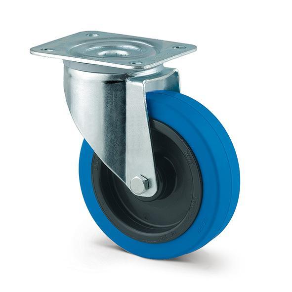 Roulette industrielle avec bandage souple