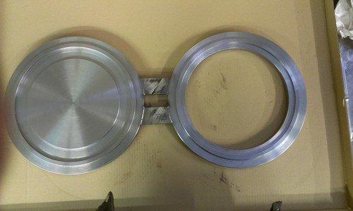 Brillensteckscheibe, Nut + Feder, Stahl