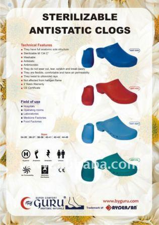 Autoclavable Antistatic Clogs/ Surgery Clogs/ Ameliyathane Terlikleri
