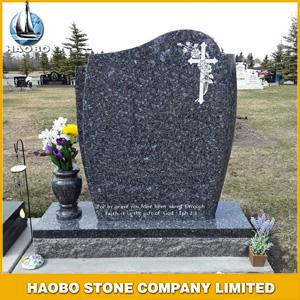 Blue Pearl Granite Monument, Labrador Blue monument