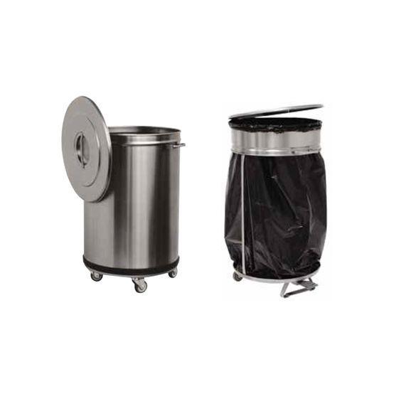 poubelles en inox pour grandes cuisines professionnelles