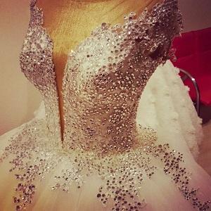 cyrstal bridal dress