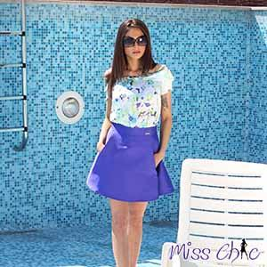 Combination of skirt and blose