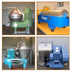 Centrifuges, used, fully reconditioned