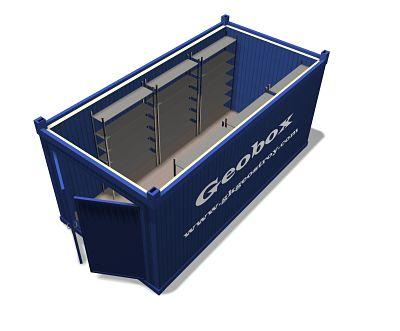 Storage containers with double doors