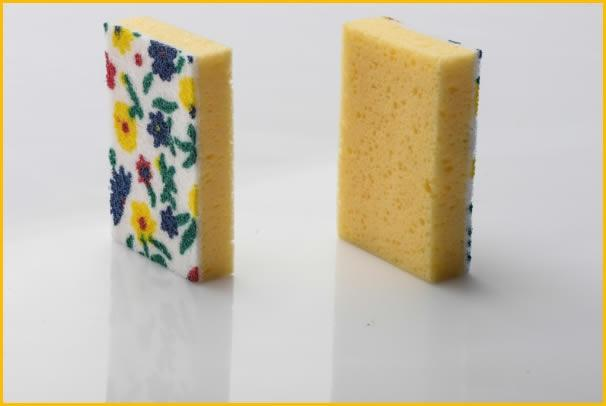 synthetic SPONGES with scouring pad