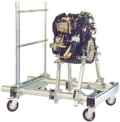 Transportable engine supports