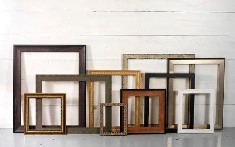 Frames for pictures of various sizes and designs.