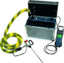 Hand-held industrial combustion and emission gas analyzer with 9 EC sensors