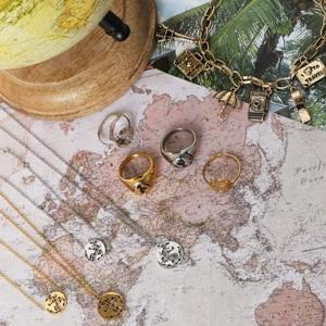 Yehwang Stainless steel jewelry, world map set