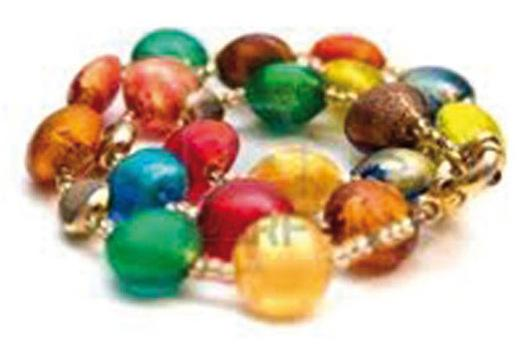 Bracciale di perle di vetro