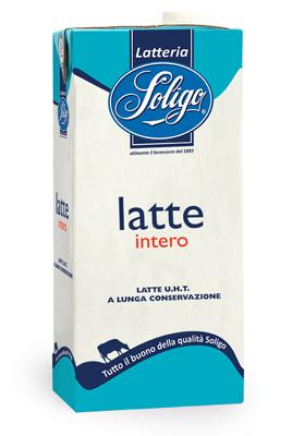 Latte UHT intero Soligo slim 1lt