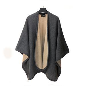 Mantella misto lana reversibile