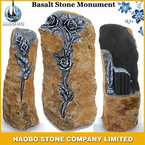 Basalt Stone Monument with carving