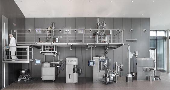 Continuous processing unit