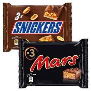 Mars, Snickers