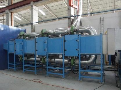 Coil coating line IR oven