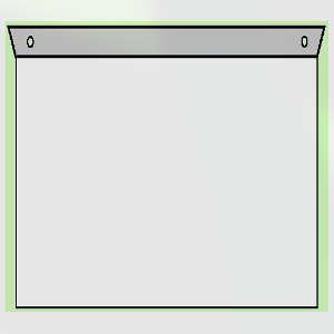 Fahnenschild Rechteck zur Deckenmontage