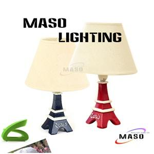 MASO LED Resin Toy Table Lamp Paris Tower Stand Black and White Color MS-T4001 E