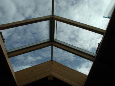 Dachflächenfenster mit Motor