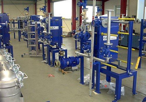 Vorfertigung Wärmetauscherbaugruppen