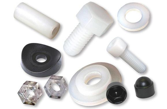 Viti in nylon, dadi di plastica, rondelle, copriviti, copridadi in plastica - Plastic screws, nylon fasteners, bolts, nuts, washers, bolt and nut protection caps, grub screws