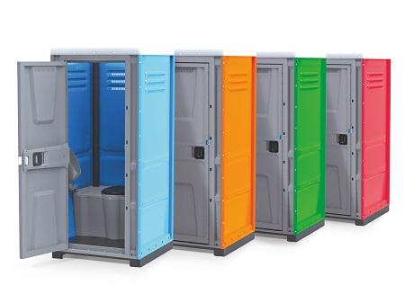 Toilet cabins ToypeKhave a modern design and are available in 4 colors