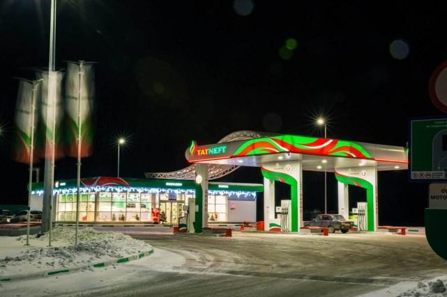 Petrol stations illumination