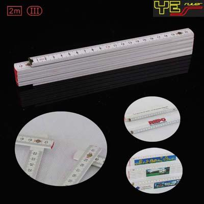 Large Advertising Space 2m 10folds wooden folding ruler M2010