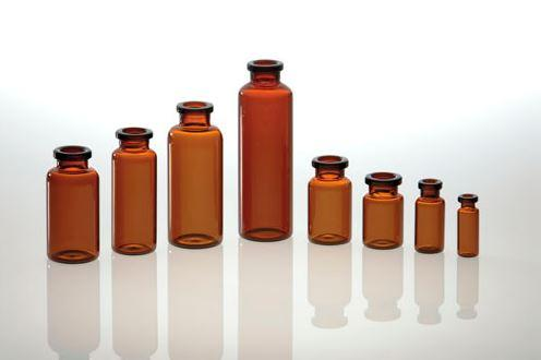 Brown injection vials