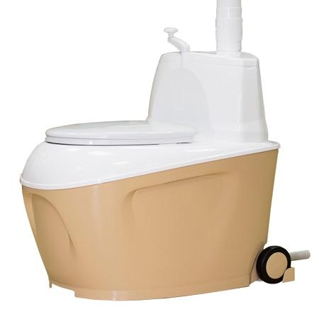 Dry toilet Piteco905 –has a large tank capacity (120 l)