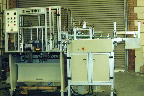 Automatic soldering and finishing unit