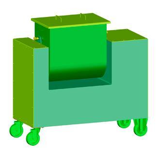 Mezclador de batea volcable