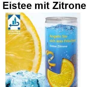 Eistee mit Zitrone
