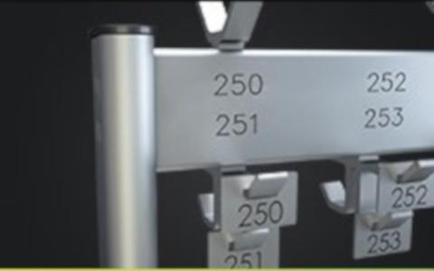 Garderoben-Nummerierungen