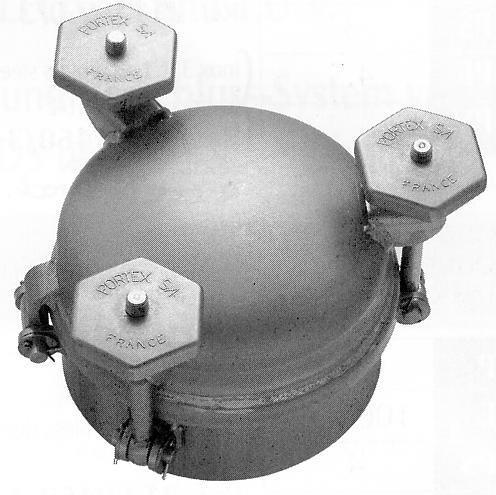 Porte ronde acier ou inox pression de service 8 bars-3 serrages périphériques