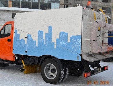 Вакуумная подметально-уборочная машина на шасси «ГАЗон NEXT»