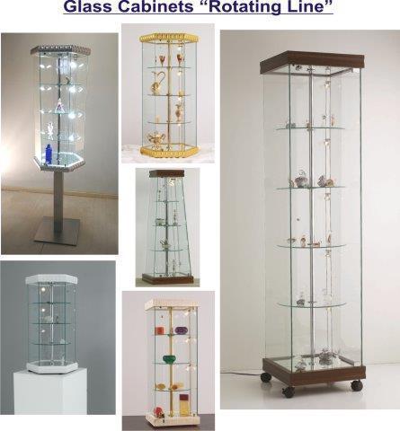 Showcases Rotating Line - Vetrine con vetro curvo