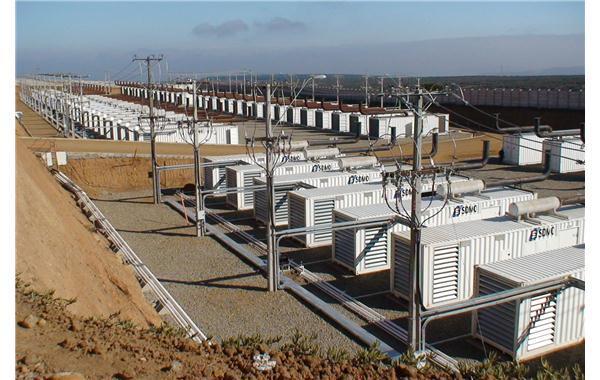 Centrale de production au Chili