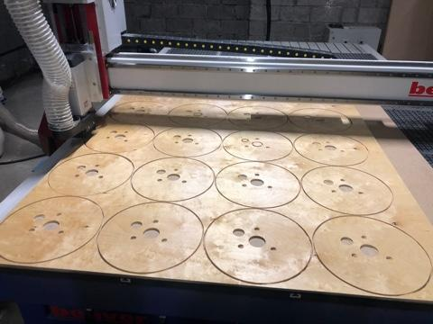 We make disks from plywood for electric coils. Different diameters and thickness