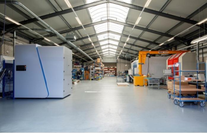 Produktionshalle Technische Kunststoffe