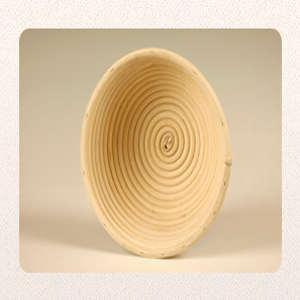 Gärkörbchen, Ganz aus Peddigrohr, rund