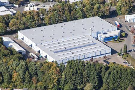 Produktion Leichtkrane und Logistikzentrum