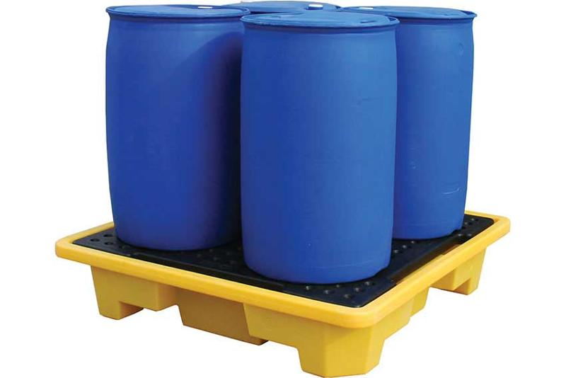 Plastibac provide a complete range of sump pallets and spill flooring for safe and secure storage of clean and waste oil, bulk fuels, chemicals and other hazardous liquids in drums, IBC, canisters...