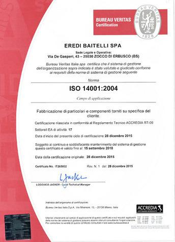 EREDI BAITELLI ISO 14001