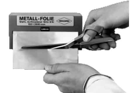 Metallfolien mit enger Dickentoleranz