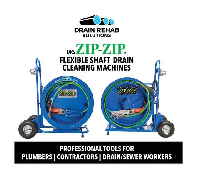 DRS ZIP-ZIP Flexible Shaft drain cleaning machines